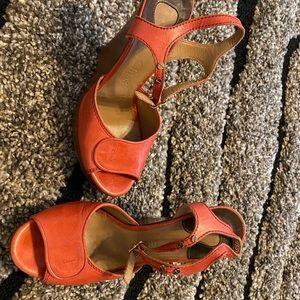 Size 38.5 Chloe open toe wedges